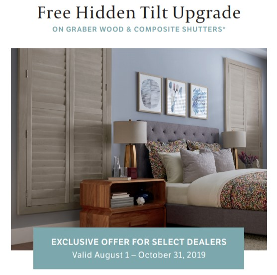 Free Hidden Tilt On Graber Shutters!